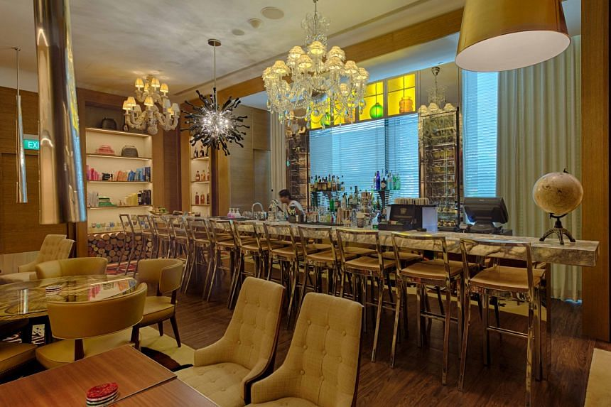 The Lobby Bar of The South Beach hotel, designed by Philippe Starck.