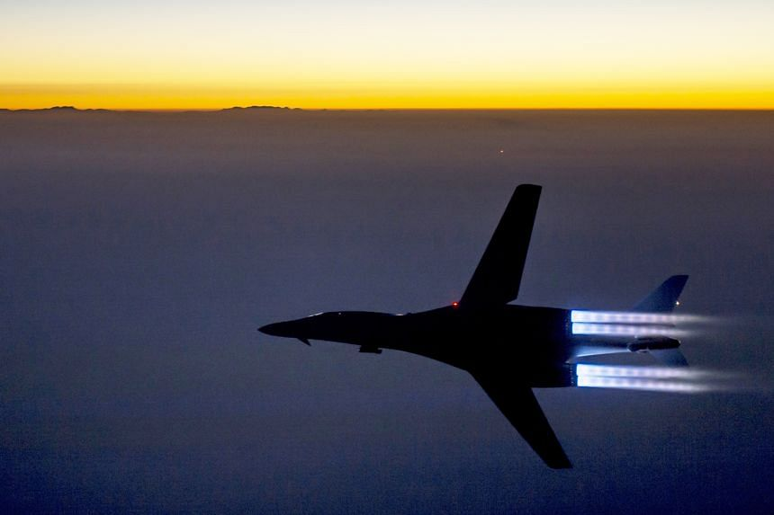 A US Air Force B-1B bomber flying over northern Iraq after carrying out air strikes in Syria. While the coalition has conducted more than 8,000 air strikes against ISIS, the 3,500 US personnel on the ground there have been limited mostly to providing