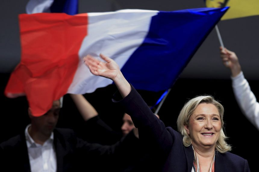 National Front leader Marine Le Pen, the French far-right party's candidate in the Nord-Pas-de-Calais-Picardie region, campaigning ahead of this weekend's regional election.