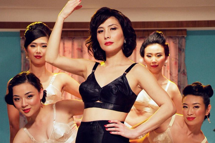 A scene from In The Room with actress Josie Ho (centre) as mamasan and her girls.