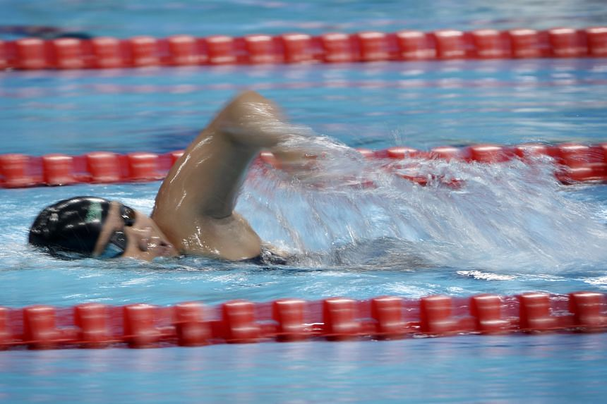 Theresa Goh on her way to winning the 200m freestyle S5 event yesterday. It was the Singaporean's fourth gold in four events at the Asean Para Games.