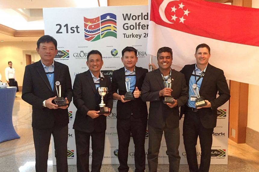 From left: Frankie Lim, Willy Teo, Patrick Goh, Sushminder Singh and Ron Totton are all smiles as Team Singapore repeat their runners-up finish in 2014.