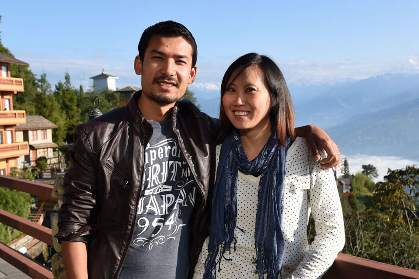 Ms Caroline Wong met her husband Wilson Shrestha while on a volunteering trip in Nepal in 2010.