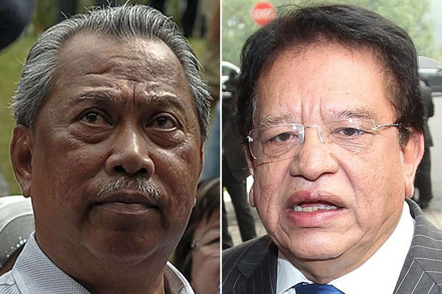 "Tengku Adnan Tengku Mansor (left) warned Mr Muhyiddin ""not to cross the line"". Tan Sri Muhyiddin Yassin made the call ""so that investigations can be freely conducted""."