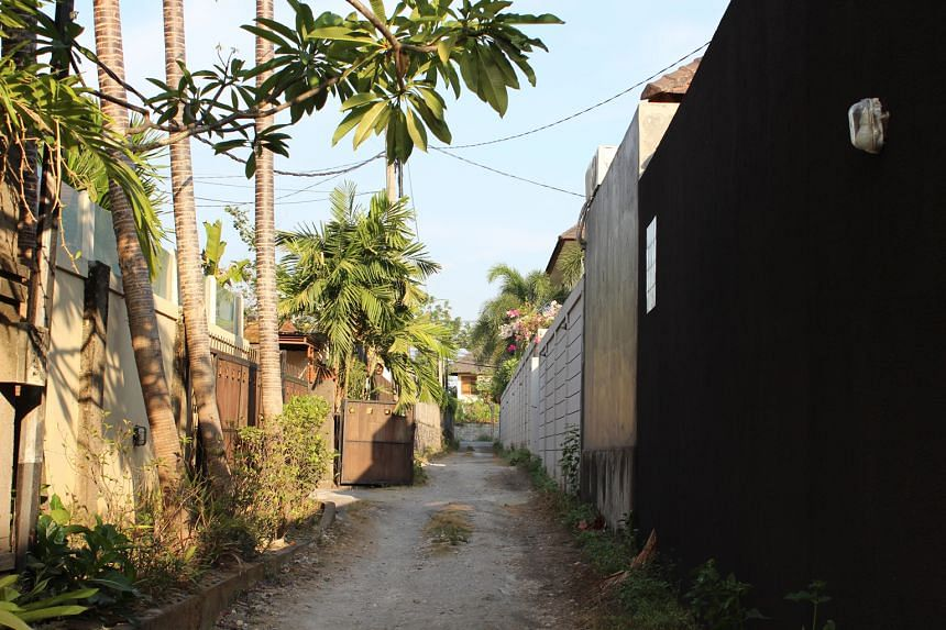 The street in Bali along which Ms Bones' employers, who are Australian fashion designers, live. She works as a nanny and housekeeper for them. Ms Nova Erni Esiana Bones was just 18 years old when she left her village of Oben, in eastern Indonesia, to