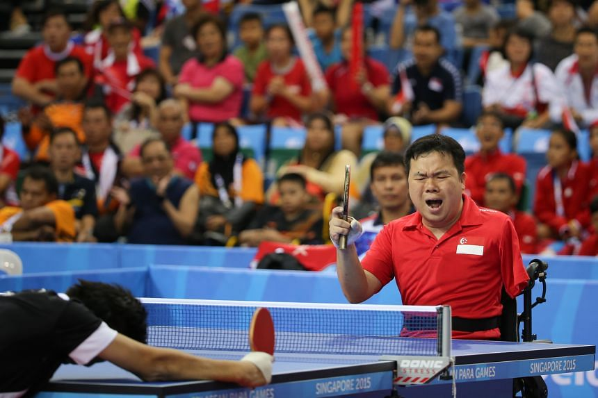 Jason Chee, who won an individual silver at the Asean Para Games, had to learn to play with his right hand after his accident. Formerly a left-hander, he picked up the sport at five.