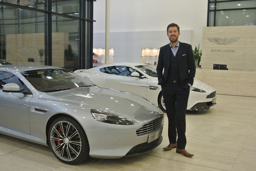 Mr Dan Balmer at a showroom for his current employer, Aston Martin, in Britain. His family lived in Singapore from 2009 to 2014 when he was the Asia-Pacific general manager of luxury carmaker Rolls-Royce.