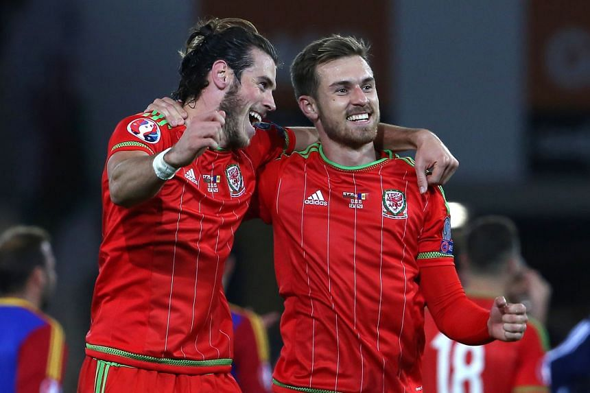 Real Madrid's Gareth Bale (left) and Arsenal's Aaron Ramsey will be familiar with England when they meet on June 16 in their Euro 2016 Group B match. Wales have 22 of their likely 23 playing in the Premier League, with the exception of Bale, who is a
