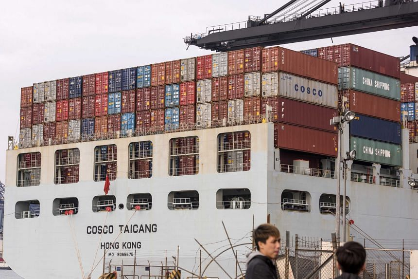 A China Ocean Shipping container ship at the Kwai Tsing Container Terminals in Hong Kong last week. The state-owned Assets Supervision and Administration Commission announced the approval last Friday for the reorganisation of China Ocean Shipping and