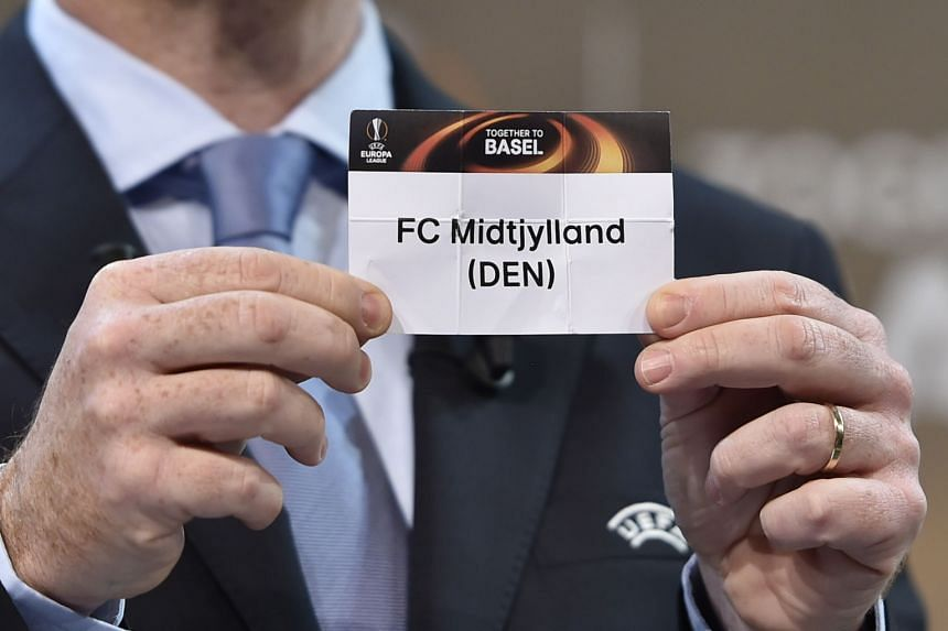 Midtjylland are drawn to face Manchester United in the last 32 of the Europa League. The Danish champions knocked out English Premier League side Southampton earlier in the tournament.
