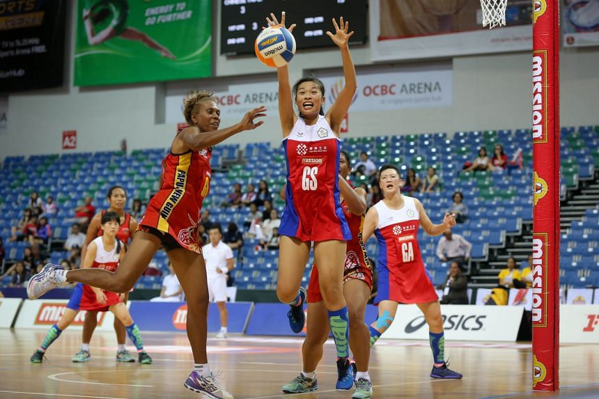 Hsieh Yun-ting of Chinese Taipei vying for the ball during their match against Papua New Guinea on Day 2 of the Mission Foods Nations Cup.