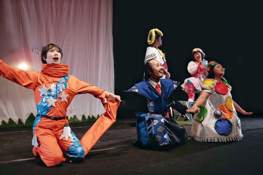 The cast have fun in Super Happy Land, switching from English to Japanese to Malay with verve.