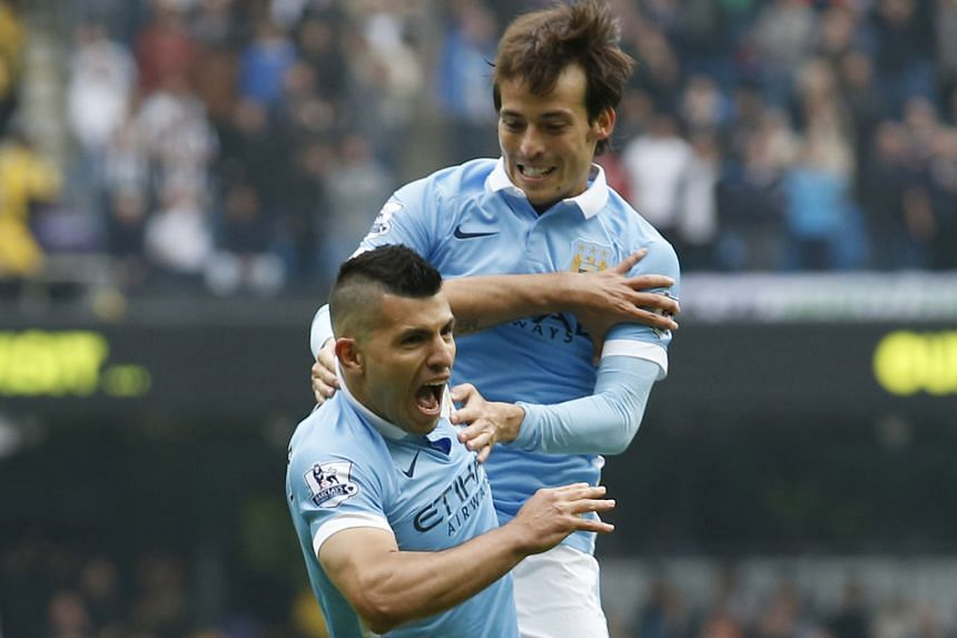 Manchester City's David Silva (right) and Sergio Aguero could feature in the clash with Arsenal after returning from their injuries.