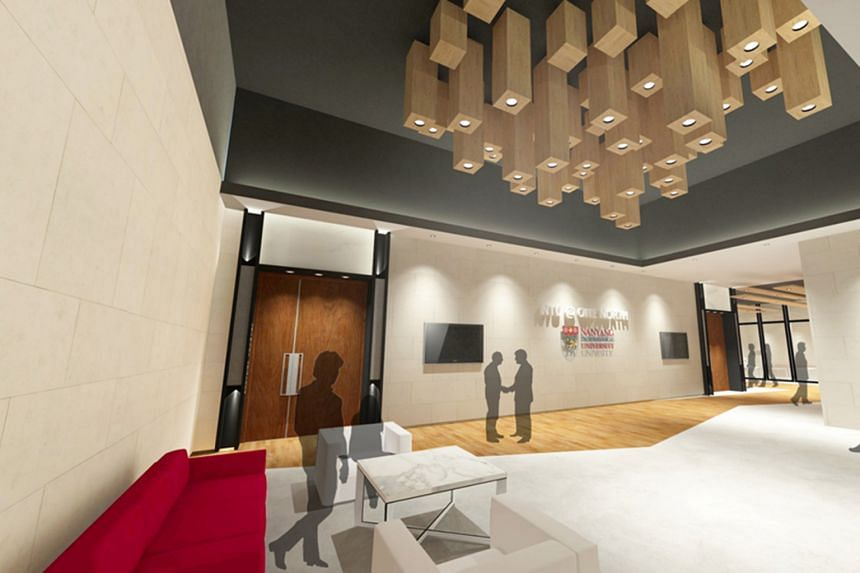 An artist's impression of the upgraded clubhouse, which will have technology-enhanced rooms.