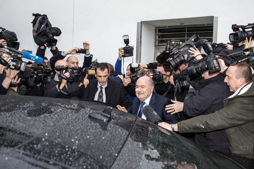 """European football boss Michel Platini (left), like Mr Blatter, has denied wrongdoing and declared that he """"will fight this to the end"""". Until his suspension, the Frenchman had been the front runner to succeed Mr Blatter. Mr Joseph """"Sepp"""" Blatter (in"""