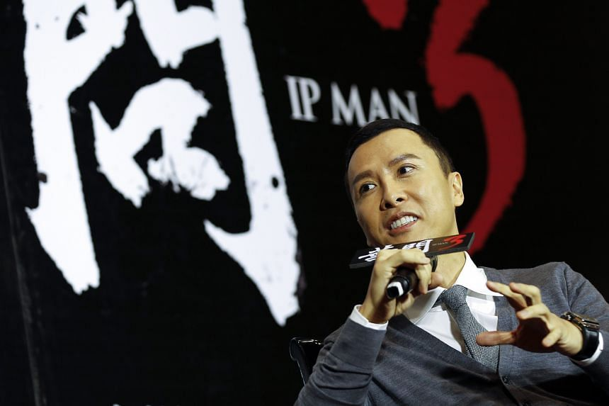 Actor Donnie Yen at the premiere of Ip Man 3 in Taipei last week.