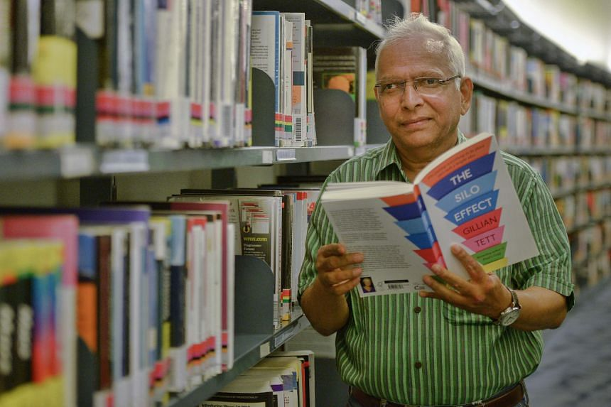 Indian tourist Vijay Gupta at the Central Public Library.