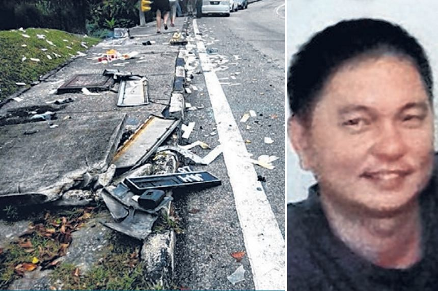 Singaporean businessman Lim Yew Beng (above) died after his Mercedes-Benz collided with another vehicle on New Year's Day near the KSL City Mall in Johor Baru.