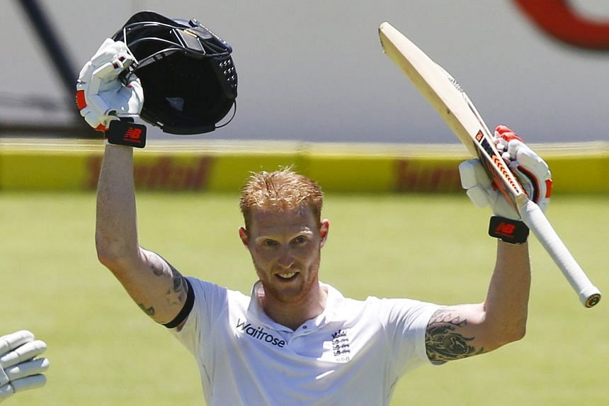 England all-rounder Ben Stokes after reaching his 200 against South Africa yesterday.