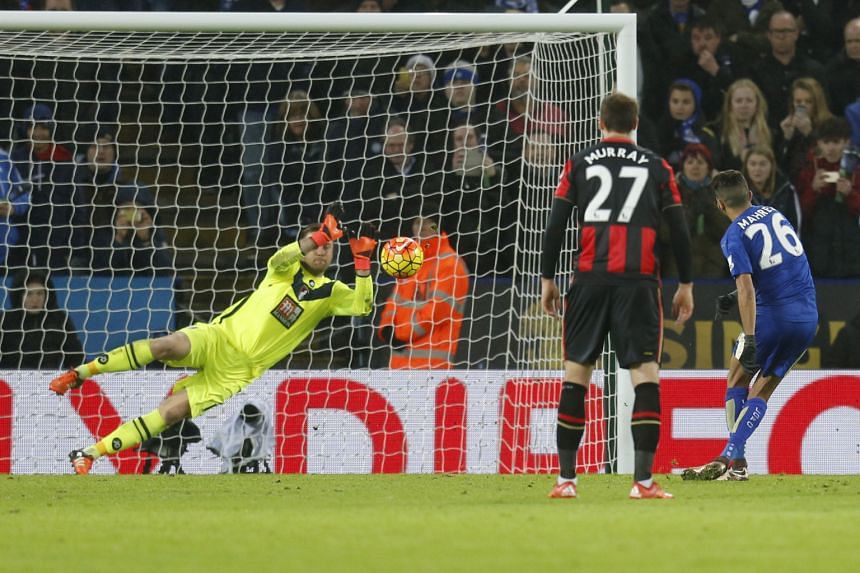 Bournemouth goalkeeper Artur Boruc saving Leicester midfielder Riyad Mahrez's penalty to ensure the Cherries left with a point. Forty points in the second half of the season could well make the Foxes league champions.
