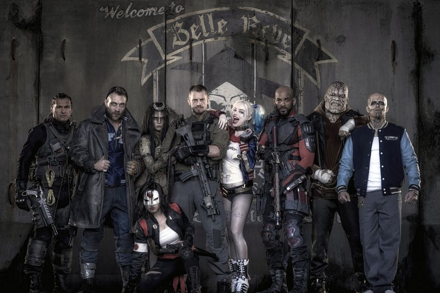 Suicide Squad (left) is made up of a group of supervillians.