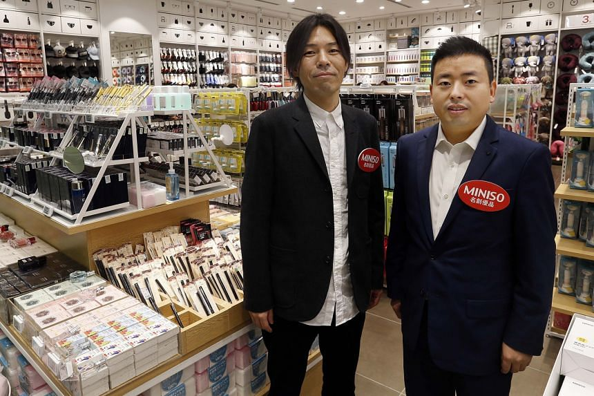 Miniso is founded by Mr Miyake Jyunya (left), who is the chief designer, and his Chinese partner Ye Guo Fu, who is president of the company.