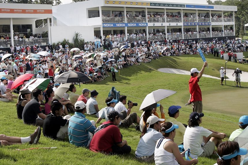 A 6,000 weekend crowd at Sentosa catching the action at the 2007 Barclays Singapore Open. The prize purse grew to US$6 million (S$8.6 million) and was graced over the years by top stars such as Phil Mickelson, Adam Scott, Ernie Els and Rory McIlroy.