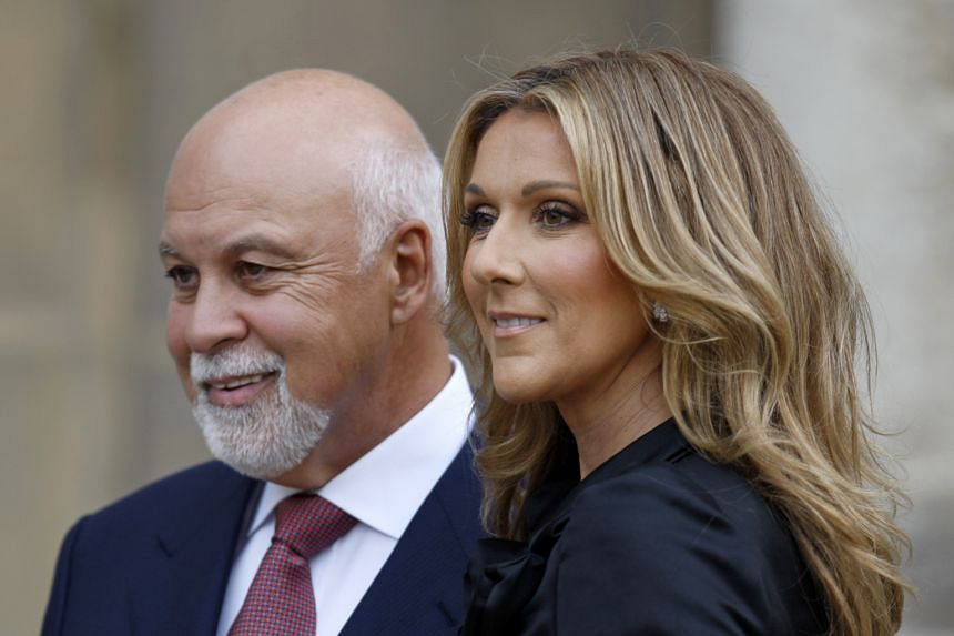 Celine Dion with husband Rene Angelil in a 2008 file photo.