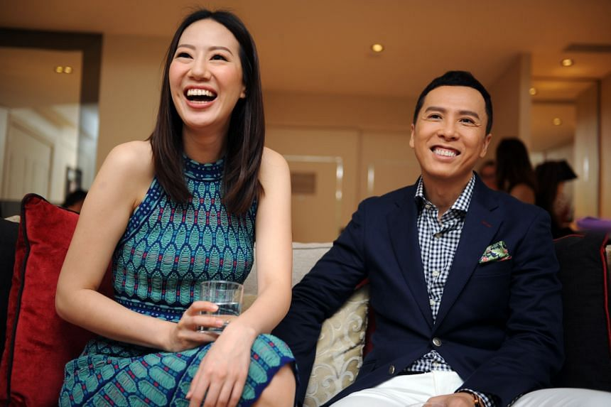 Donnie Yen, star of Ip Man, with his wife Cecilia Wang, a former beauty queen from Toronto.