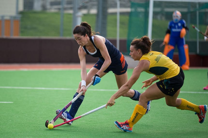 World and Olympic champions the Netherlands (in blue) playing Australia last week in a friendly ahead of this week's TPG International Tri-Series hockey tournament at Sengkang Stadium. It will also feature Germany.