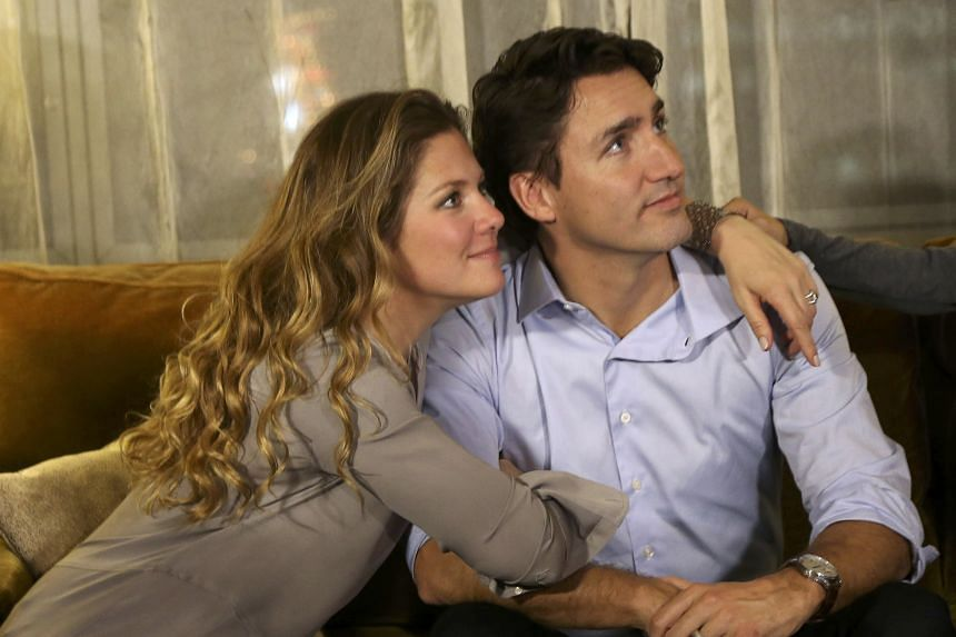 Canadian Prime minister Justin Trudeau, with wife Sophie Gregoire-Trudeau, has been called the JFK Jr. of Canada.