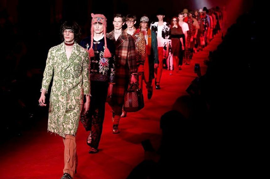 Gucci's Fall Winter 2016 Men's Collection during Milan's Fashion Week. New creative director Alessandro Michele has brought a buzz back to the brand.