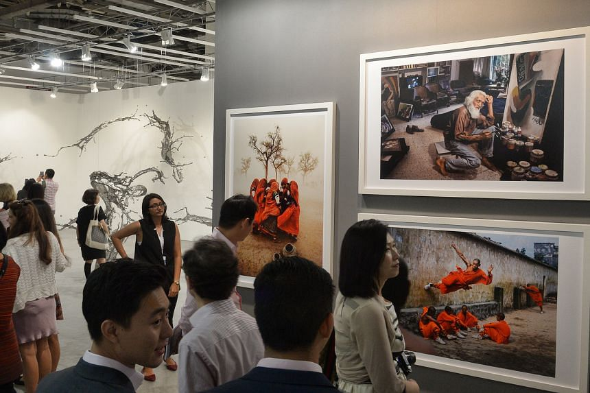 This year's Art Stage Singapore showcases art from 173 galleries from nearly three dozen countries. Thirty-two of the galleries are Singapore-based ones.