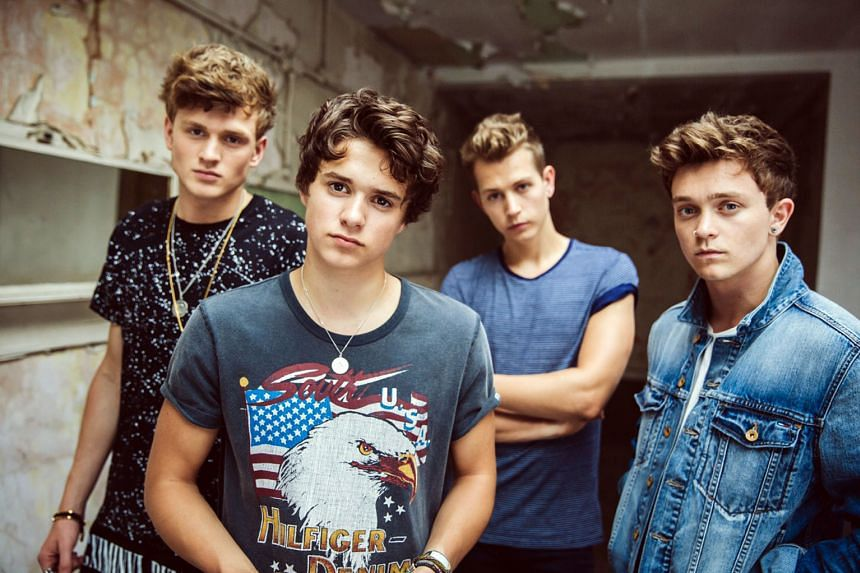 The Vamps comprise (from left) Tristan Evans, Brad Simpson, James McVey and Connor Ball.