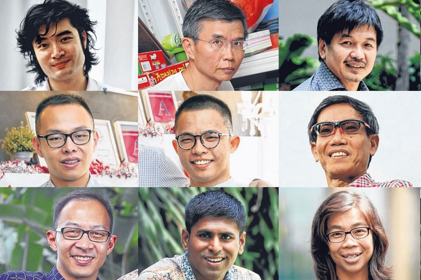 THE NOMINEES (Top row, from left) conductor Darrell Ang, 36; grassroots volunteer Ang Thiam Hock, 52 ; non-profit founder Ben Cheong, 56; engineer Peter Ho, 37; (middle row) chefs Joshua Khoo, 31, and Dylan Ong, 28; ultramarathoners Lim Nghee Huat, 6