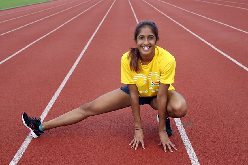 Student Veronica Shanti Pereira, who won bronze for the 100m and gold for the 200m at last year's SEA Games, has never counted calories because she knows they would be burned off during training.