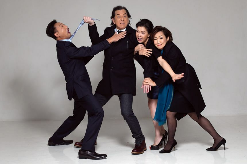 God Of Carnage stars (from left) Poon Chan Leung, Anthony Wong, Louisa So and Olivia Yan.