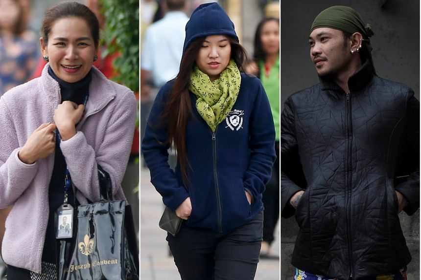 People in Bangkok all wrapped up as the Thai capital awoke to a chilly 17.5 deg C yesterday. Many parts of Asia are feeling the chill as a cold wave from China travels south.