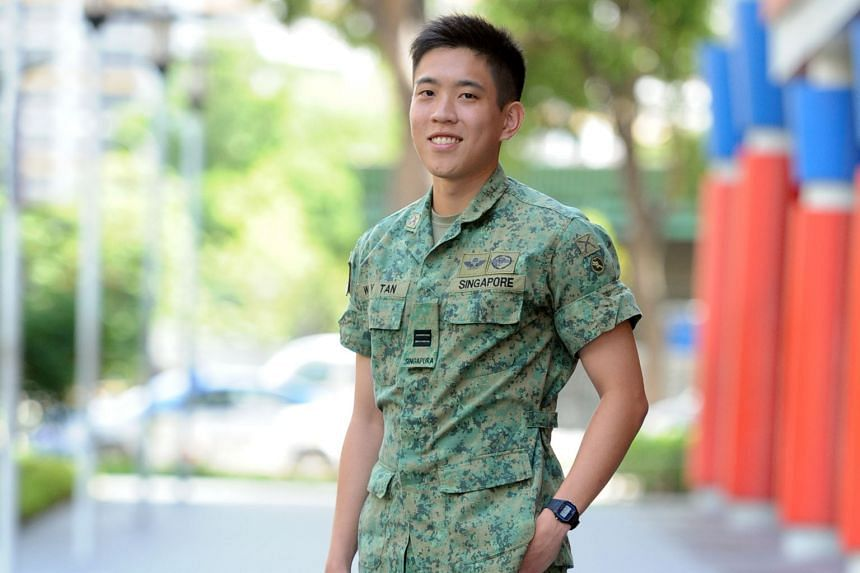 Capt Samuel Tan (above) is an artillery officer, but he can be called upon to defend servicemen in a court of law. Cases where servicemen are tried for military offences are heard at the Court-Martial Centre (below) in Kranji Camp II.