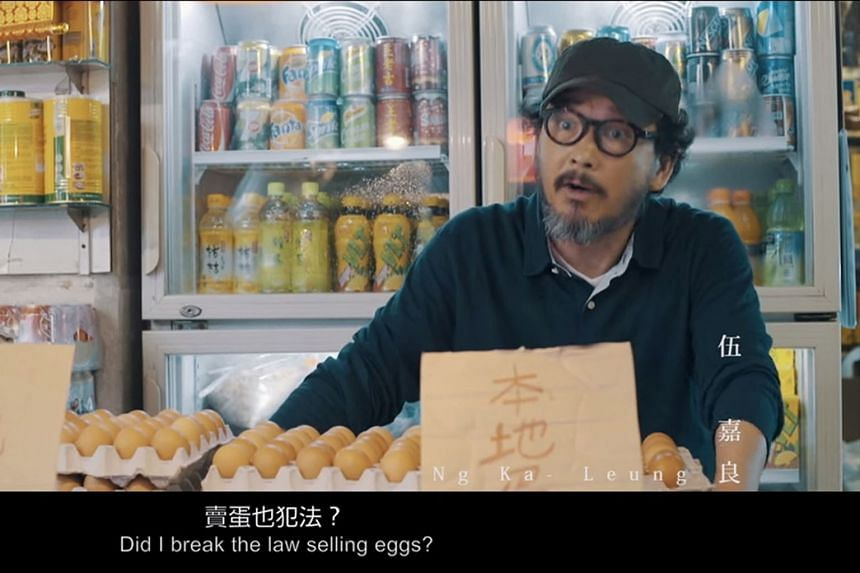 """A scene from the short film Local Egg, directed by Ng. He says he was inspired by what he describes as """"self-censorship"""" among people he had spoken to, including academics who feel the need to toe a certain political line."""