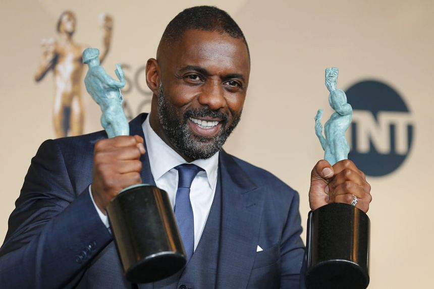 Idris Elba (above) is best supporting actor for playing a mercenary commander in Netflix's West African war film Beasts Of No Nation, and best actor in a miniseries for BBC's crime drama Luther.