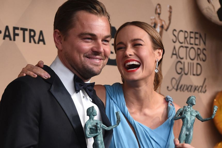 Leonardo DiCaprio (left) is best actor for his role in The Revenant and Brie Larson (right) best actress for her role in Room.