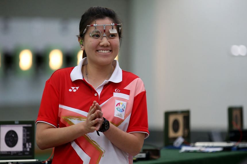 Singapore's Jasmine Ser (left) earned her ticket to Rio after winning the 50m three-positions event at the Asian qualifier. Teo Shun Xie finished sixth in the 25m pistol event, but that was good enough to clinch one of the three places on offer.