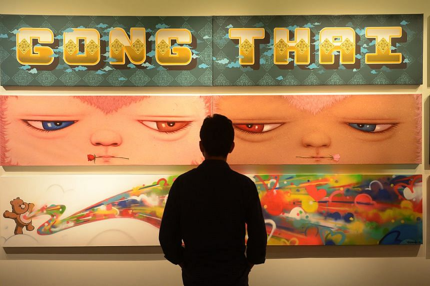 To run till June 25, the Pressionism show has more than 100 graffiti artworks on display.