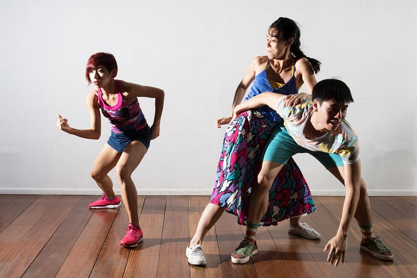 From left: Jaenny Chandra, Ma Yanling and Mario Chan are three of the six Singapore dancers who will be in director Junnosuke Tada's production.