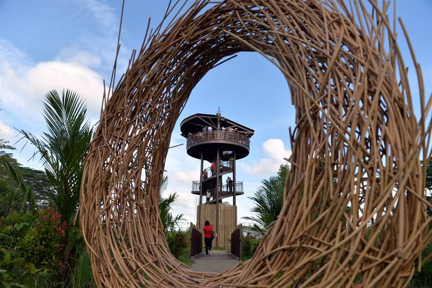 Visitors to the new Kranji Marshes can climb the 10m-tall Raptor Tower for a bird's-eye view of the area. The 56.8ha marshland is home to 54 species of butterflies, 33 species of dragonflies and more than 170 species of birds - including the critical