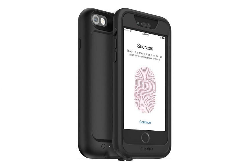 The Mophie juice pack H2Pro comes only in black here with a front frame and a back frame.