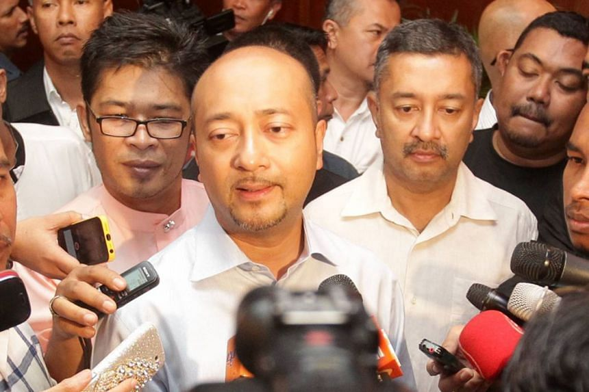 The crisis was sparked on Jan 20 by a revolt against Mr Mukhriz (centre of photo) by his own party, Umno. The plan to topple him is seen as retribution by Mr Najib Razak as the Kedah Chief Minister has all along been supporting his father Mahathir Mo