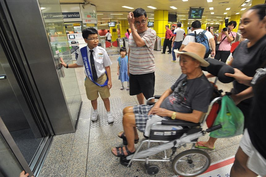 He is just 11 years old, but Primary 5 pupil Goh Bing Yao from Pei Chun Public School is being trained to become a service ambassador at Toa Payoh MRT station. Under SMRT's Adopt-a-Station programme, pupils get a chance to serve the community near th