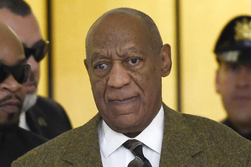 Bill Cosby sat stonily and did not speak at the Montgomery County Courthouse on Tuesday.